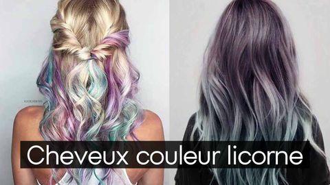 cheveux licorne