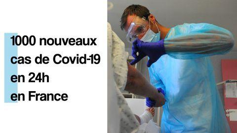 1000 nouveaux cas de Covid-19 en 24h en France