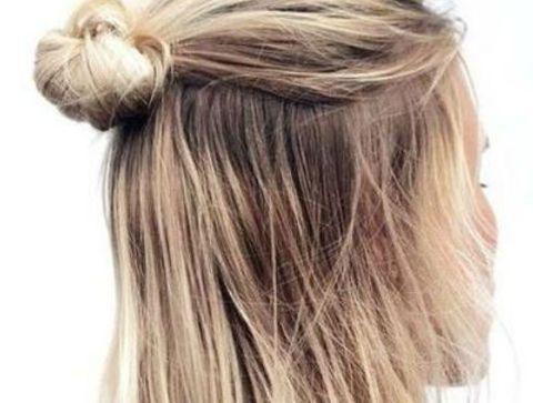 Le demi chignon - 40 coiffures à adopter quand il fait chaud