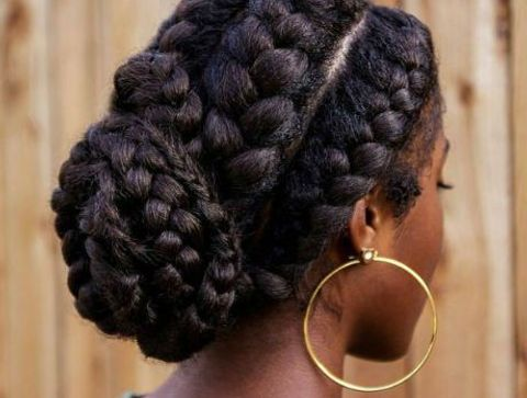 Le Chignon Avec Tresses 30 Superbes Tresses Africaines A Adopter