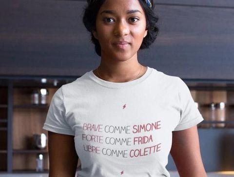 T-Shirt Simone, Frida et Colette de Playtopla -  Noël 2020 : idées de cadeaux pour adolescents