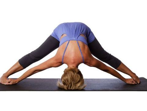 postures yoga  posture du grand angle ou prasarita