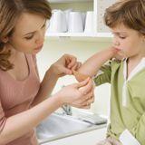 Soigner les plaies superficielles chez l'enfant