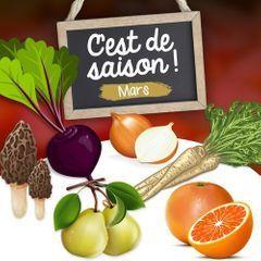 Mars : fruits, légumes et poissons de saison