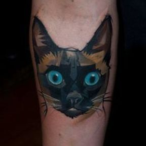 Tatouage chat siamois