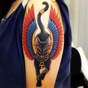 Tatouage chat sphinx