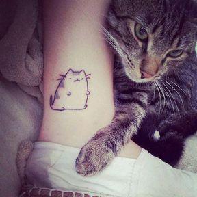 Tatouage gros chat