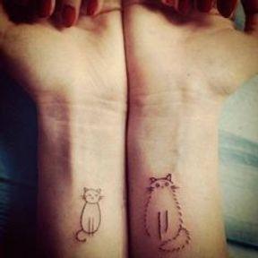 Tatouages avec deux chats