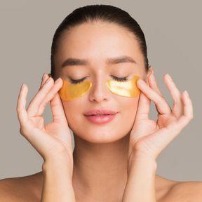 Masque contour des yeux de gel d'Aloe Vera et au miel