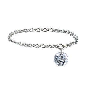 Alliance diamant or blanc La Brune et La Blonde 2014
