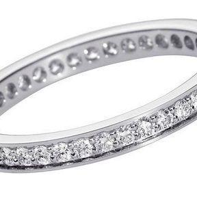 Alliances de mariage or blanc et diamants Cartier