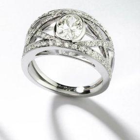 Bague de fiançailles diamant Mellerio dits Meller 2014