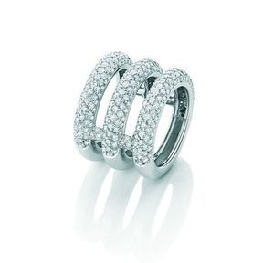 Bague de fiançailles or blanc et diamants Garnazelle