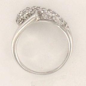Bague de fiançailles or blanc et diamants Les Perles de Noa