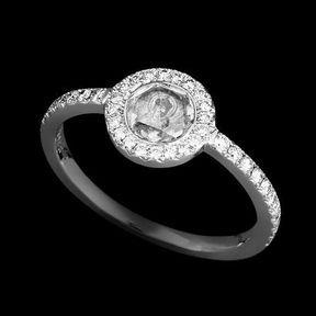 Bague de fiançailles or blanc et diamants Lorenz Bäumer