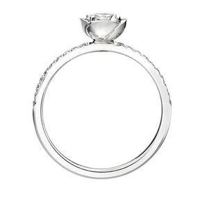 Bague de fiançailles or blanc et diamants Piaget