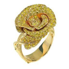 Bague de fiançailles or jaune Dior