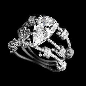 Bague fiançailles or blanc et diamants Lorenz Bäumer