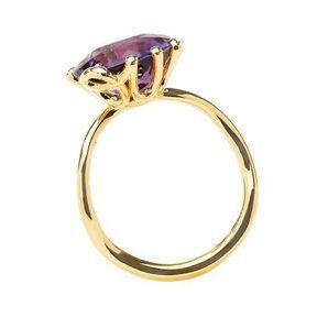 Bague fiançailles or jaune et diamants Dior