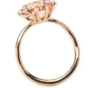 Bague fiançailles or rose et diamants Dior