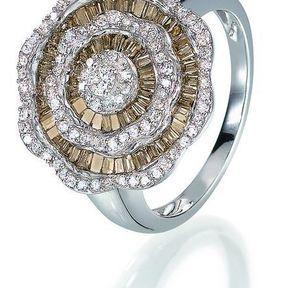 Bagues de fiançailles or blanc et diamants H.Gringoire