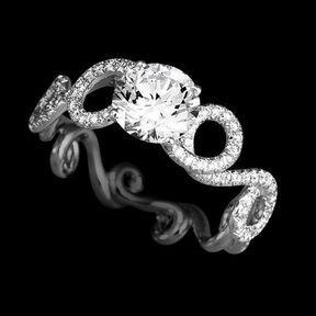 Bagues de fiançailles or blanc et diamants Lorenz Bäumer