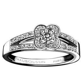 Bagues de fiançailles or blanc et diamants Mauboussin