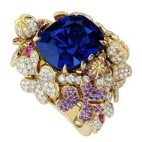 Bagues de fiançailles or jaune et diamants Dior