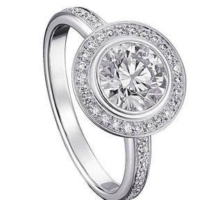Bagues de fiançailles platine et diamants Cartier