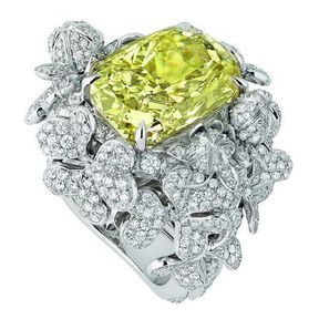 Bagues fiançailles or blanc et diamants Dior