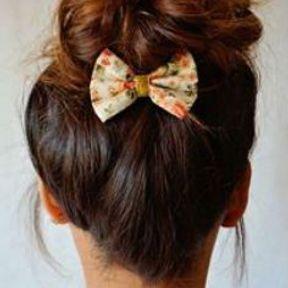 Barrette cheveux noeud
