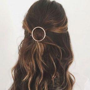 Barrette à cheveux ronde