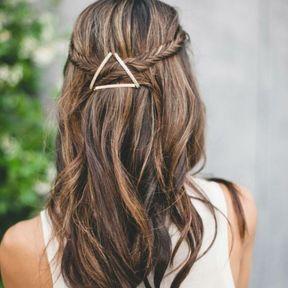 Barrette à cheveux triangle