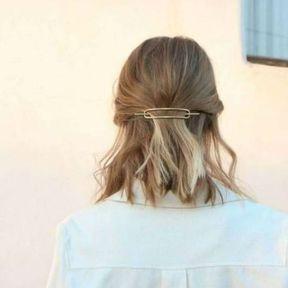 Barrette à cheveux rectangle
