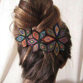 Barrette à cheveux colorée