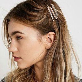 Barrettes à cheveux avec perles