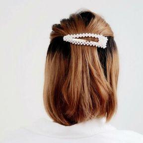 Grande barrette à perles