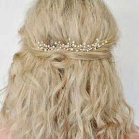 Bijou de cheveux branche dorée