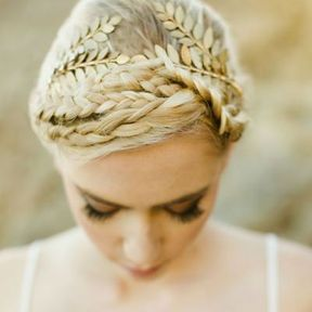 Bijou de cheveux couronne or