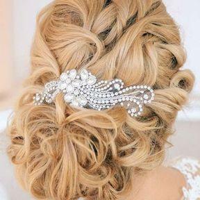 Bijou de cheveux fleur et strass