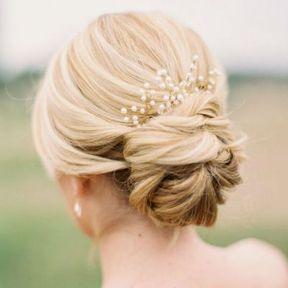 Bijou de cheveux perles et or