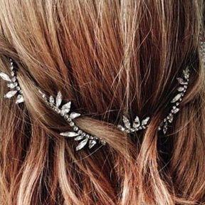 Bijou de cheveux strass argent