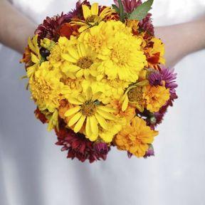 Bouquet de mariée fleurs naturelles