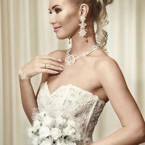 Bouquet de mariée rond blanc
