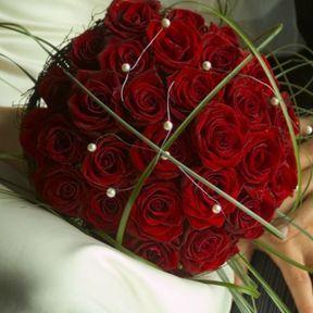 Bouquet de mariée rose rouge