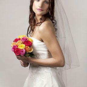 Bouquet mariée rose rouge