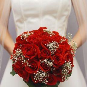 Bouquet mariée roses rouges