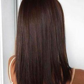 Carré sur cheveux longs
