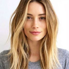 Coupe carré long blond
