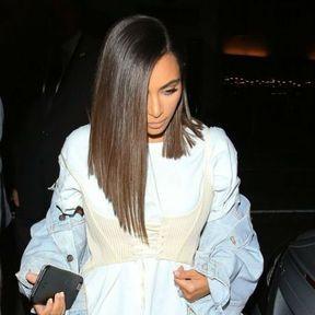 Le carré plongeant de Kim Kardashian